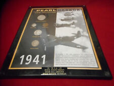 American Coin Treasures PEARL HARBOR COIN COLLECTION Plaque w/ COA #3883