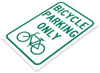 TIN SIGN B267 Bicycle Parking Only Tin Metal Sign Bike Route Cycling Decor