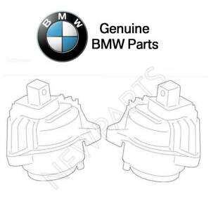 For BMW 535d F10 2014-2016 Set of Left & Right Engine Supports Genuine