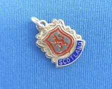 VINTAGE 925 STERLING SILVER CHARM SCOTLAND TRAVEL SHIELD UK