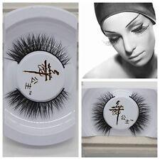 Black Luxurious 100% Real Mink Long Natural Thick Eye Lashes False Eyelashes