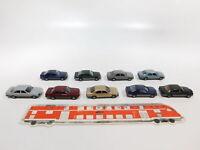 CG509-0,5# 9x Herpa H0/1:87 PKW MB/Mercedes: 300 E + 300 CE + 500 SE, Mängel