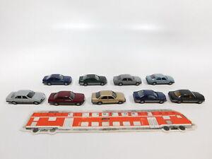 CG509-0, 5 #9x Herpa H0 / 1:87 Car MB / Mercedes: 300 E+ 300 Ce +500 Se, Defects