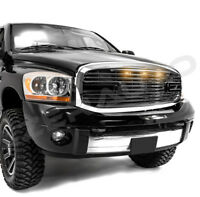 06-09 Dodge RAM 2500+3500 Black Big Horn+3x LED+Grille+Replacement Chrome Shell