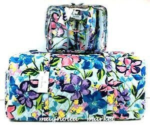 Vera Bradley LARGE TRAVELER DUFFEL MARIAN FLORAL & COSMETIC SET Weekender Bag