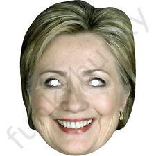 Hillary clinton american célébrité carte masque-toutes nos masques sont pré-coupé!