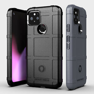 For Google Pixel 5 4a 5G 4 3a 3 XL Rugged Shield Matte Soft Silicone Case Cover