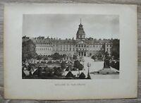 Schwarzwald Schloß i Karlsruhe Lichtdruck a Karton 1901 Architektur Denkmal Ort