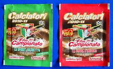 """CALCIATORI PANINI 2010-2011 - 2 bustine """"Film del campionato"""" V1/V12 - sigillate"""