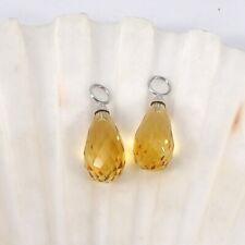 Wert 190 € Citrin (8,40 Carat) Einhänger für Ohrstecker in 585er 14 K Weißgold