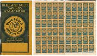 Pasadena CA Blue & Gold Savings Stamps Booklet with  6 Full Pages of Stamps