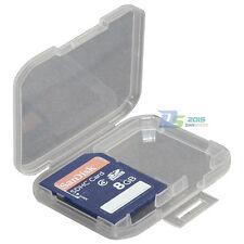 1pcs 2 SD Memory Card Holder Transparent Hard Plastic Box Storage Case Protector