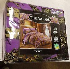 New Full Size woods purple Hunter Camo 6 pc Sheet Set Regal Comfort