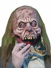 Halloween ZOMBIE SLACK JAW ADULT LATEX DELUXE MASK COSTUME NEW