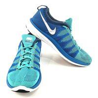 Nike Shoes Mens Size US 9.5 UK 8.5 EUR 43 Flyknit Lunar 2 Running Blue Teal