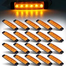 "20 Pcs 3.8"" 6 LED Amber Side Marker Lights Cab Marker, RV Marker light Yellow"