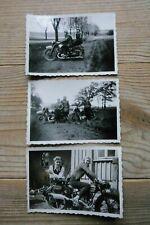 Hamburg Kennung NSU Motorrad Frau 1939 Sammlung Konvolut Lot 9x6 Original Fotos
