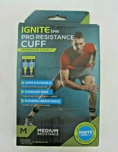 Ignite by SPRI Pro Resistance Cuff - Medium Resistance - NEW - Exercise Guide