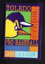 Toledo Mud Hens--1998 Pocket Schedule--Children's Medical Ctr--Tigers Affiliate