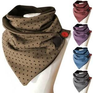 Unisex Womens Winter Warmer Scarf Polka Dot Wrap Shawl Soft Thermal Neck Scarves