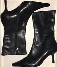 Faith Black Chis Flare Starsky 2 Ankle Boots Size 3