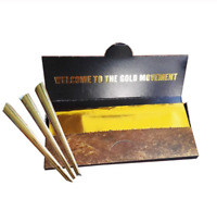 10Pcs/Box Gold Cigarette Rolling Paper Classic Smoking Paper Tobacco Cigarette A
