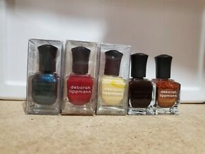 CHRISTMAS SPECIAL Deborah Lippmann LOT 5 nail polish DREAM WEAVER RED SILK
