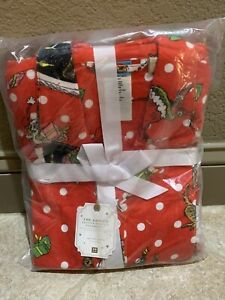 POTTERY BARN TEEN GRINCH & MAX RED FLANNEL PAJAMA SET (2pc) SIZE SMALL S NEW