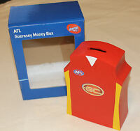 Gold Coast Suns AFL Guernsey Shape Money Box 16cm Resin Hand Painted New