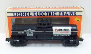 Lionel 6-6323 LCCA Virginia Chemicals Single Dome Tank Car LN/Box