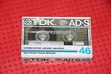 TDK  AD-S  46        BLANK CASSETTE TAPE (1)   (SEALED)