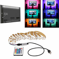 1M USB 5050 SMD RGB LED Strip Light DC 5V Bar TV Back Lights Lamp Kit + Remote