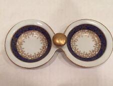 Vintage WAWEL POLAND Porcelain  Side By Side Dish Signed Mints Nuts Tea Bags.