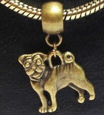 BRONZE DOG_Bead for European Chain Charm Bracelet_Dog Puppy Pup Pet Canine Pup
