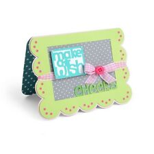 Sizzix Framelits Drop-Ins Dies Card, Scallop w/ Banners & Greetings Drop-Ins