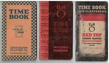 3 Note/ Time Advertising  Booklets for Plasterers,  1935, 36, 60