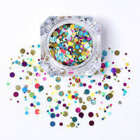 Nail Art Ultrathin Sequins Round Glitters Manicure Decoration Colorful Mixed #10
