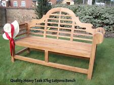 "5ft6"" TOP QUALITY TEAK HARDWOOD EXTRA THICK 37kg LUTYENS MEMORIAL  GARDEN BENCH"
