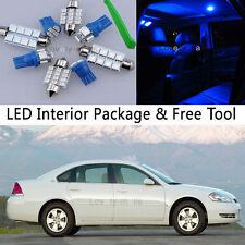 12PCS Blue LED Auto Interior Lights Package kit Fit 2006-2013 Chevy Impala J1