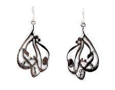Bat-Ami Sterling Silver Heart Creative Wire Earrings E2920