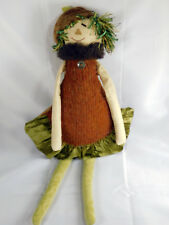 Woof & Poof 2009 Fall Musical Scarecrow Woman Green Skirt & Hat Rare