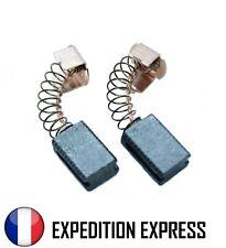 2x Charbons Balais Brosses Moteurs Black & Decker 5 x 8 x 12 mm G720 Carbone