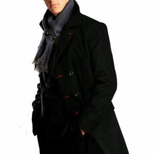 Sherlock Holmes Benedict Cumberbatch Wool Winter Coat Black