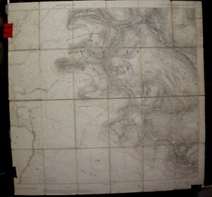 Genuine 1903 black, white  and red O.S. map of Skye and the Cuillin Hills