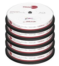 50 Primeon 2761312 Printable Blank Blu Ray DL BDR Discs 50GB 2x - 8x Ultra Speed