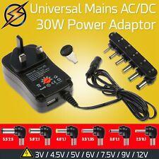 Universal AC/DC Power Supply Charger Adaptor UK Plug 3V 4.5V 5V 6V 7.5V 9V 12V
