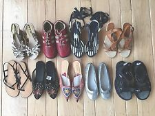 9 Pairs Women's Mixed Sandals Shoes 7 Pairs New, 2 Pairs Preowned Size 6.5 & 7