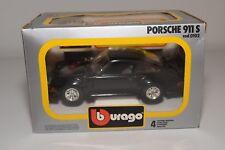 W 1:24 BBURAGO BURAGO 0102 102 PORSCHE 911 S 911S BLACK MINT BOXED