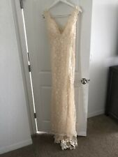Ivory Cream Wedding/prom Dress Size 4