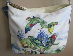 Amazon Conure Parrot Shoulder Crossbody Handbag Purse Tote Bag NWT